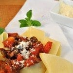 Fresh picked tomatoes, freshly snipped herbs makes this pasta meal perfect. It is quick and easy too.