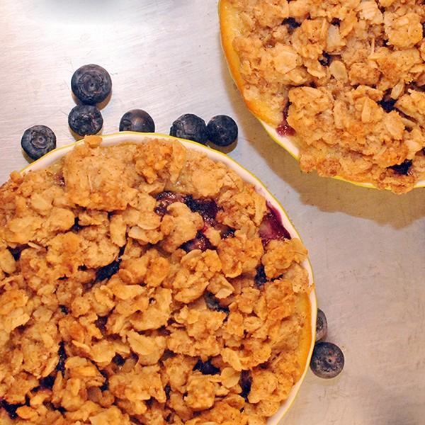 Blueberry Custard Crumb Tarts