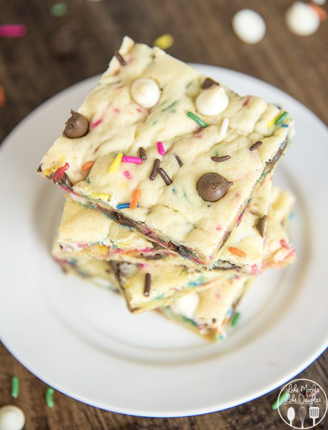 cake batter blondies 7