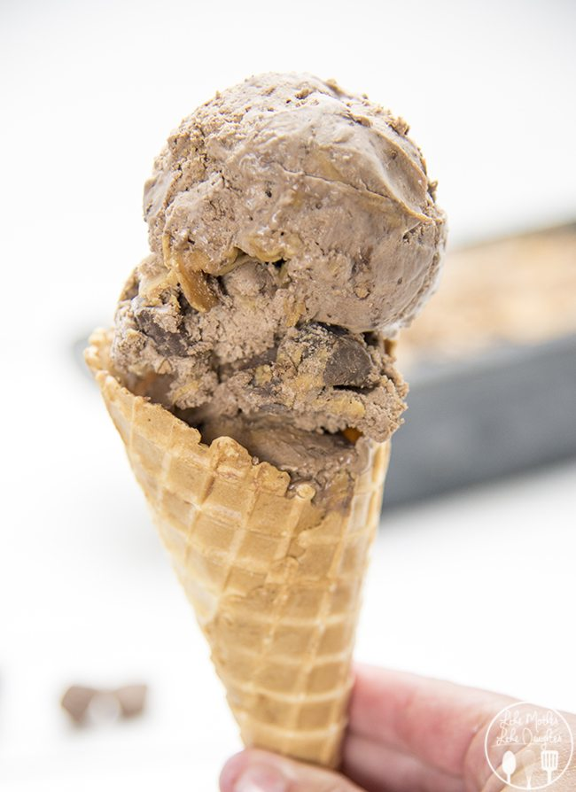 Chocolate Peanut Butter Cup Ice Cream - This simple and amazing ice ...