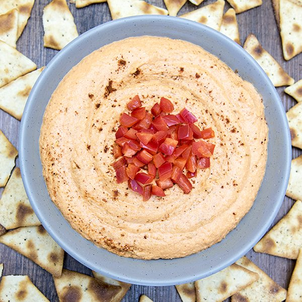 roasted red pepper hummus 5square