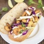 shrimp sandwich with cilantro lime cabbage slaw 1square