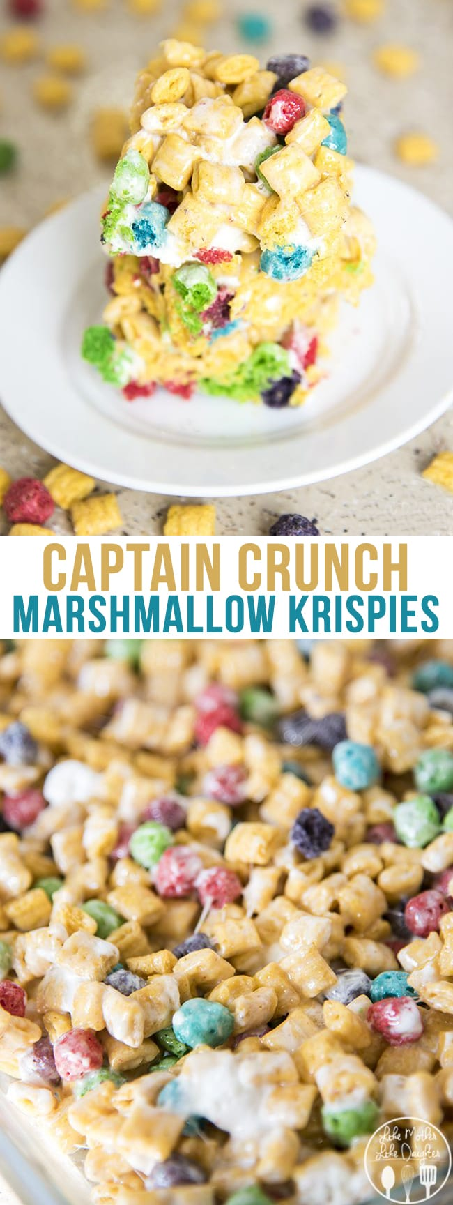 Captain crunch marshmallow krispies lmldfood captain crunch rice krispies are gooey cereal bars made with captain crunch cereal and marshmallows ccuart Image collections
