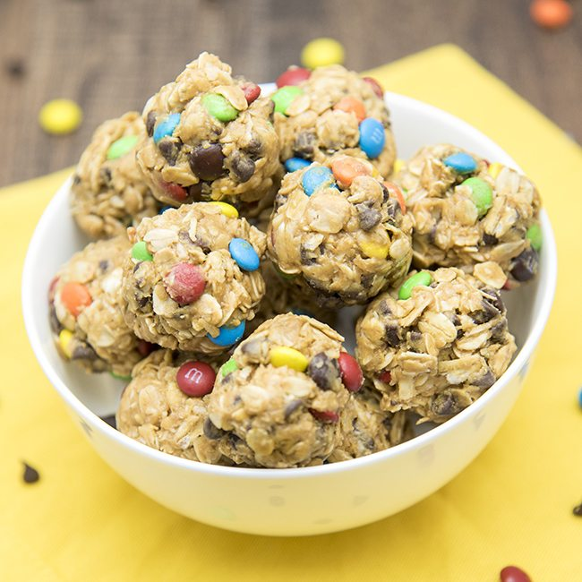 monster cookie granola bar bites 4square