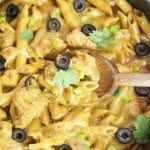 One Pot Chicken Enchilada Pasta