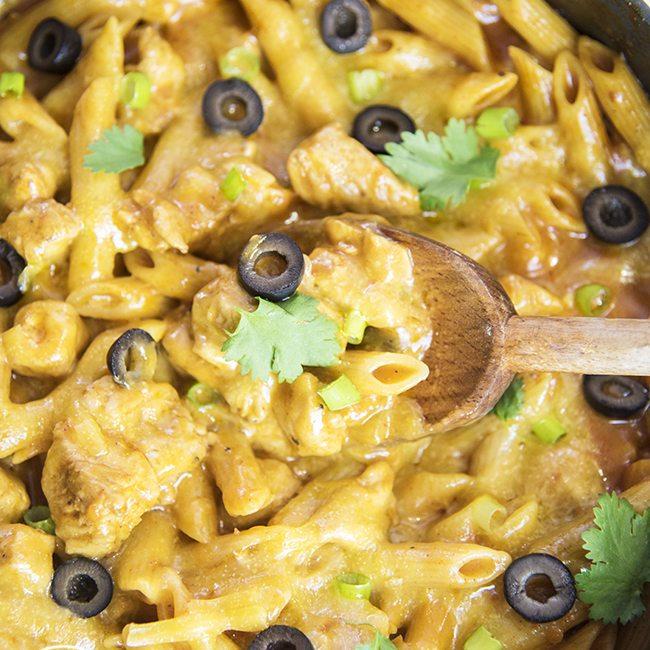 chicken enchilada pasta 3square