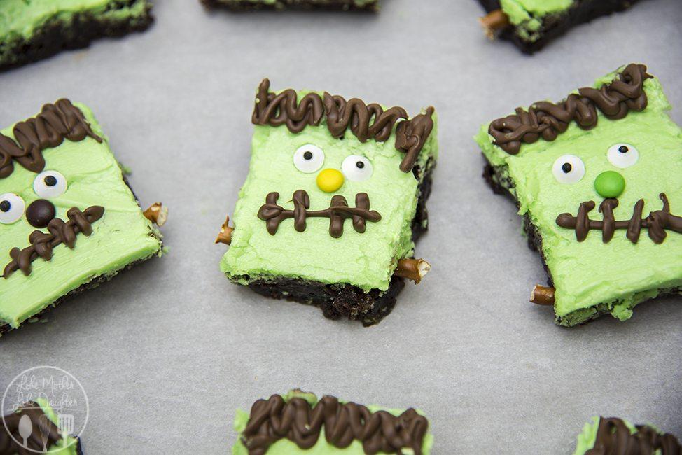 Frankenstein Brownies - Like Mother Like Daughter