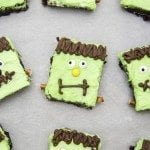 frankenstein monster brownies 5square