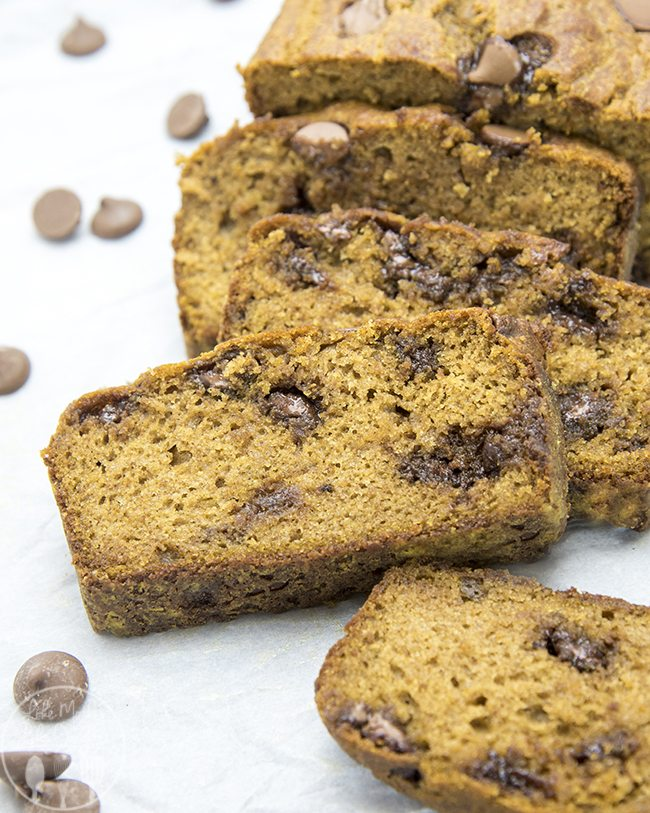 healthier pumpkin chocolate chip bread  5a