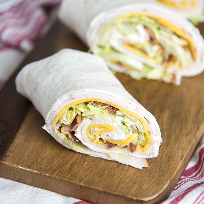 Turkey Bacon Ranch Wraps