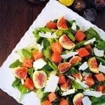 Fig Watermelon Spinach Salad
