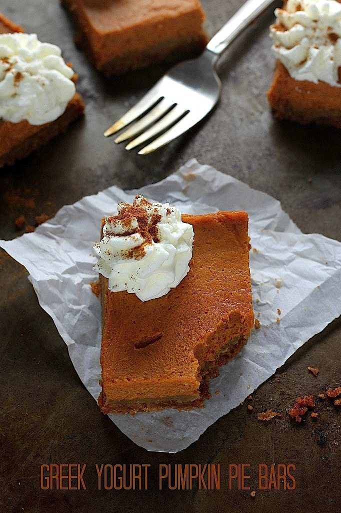Greek Yogurt Pumpkin Bars