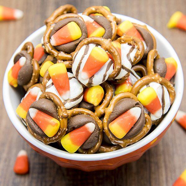 candy corn pretzel treats 7square