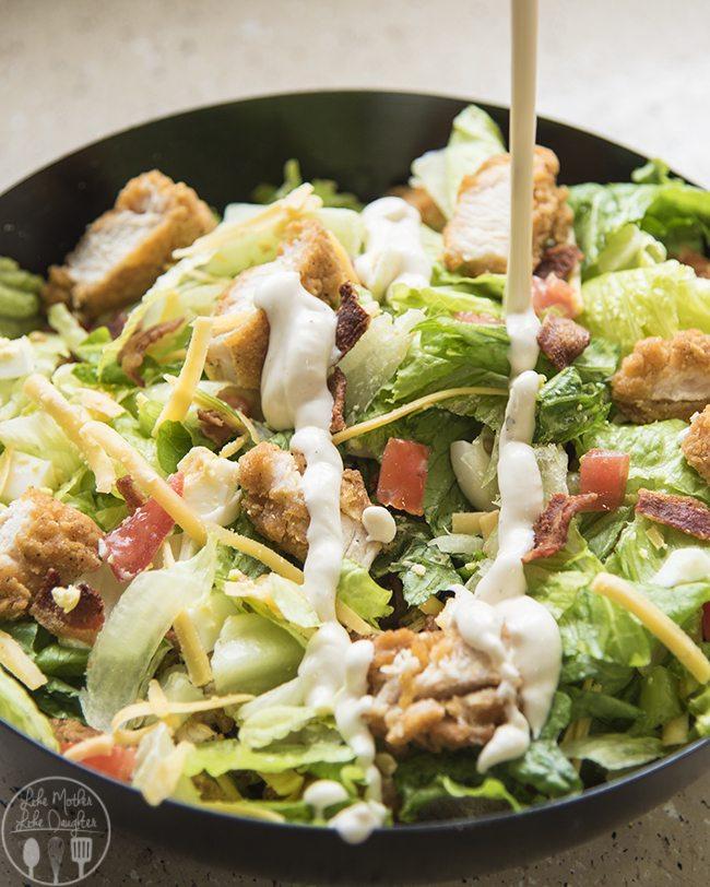Cobb salad with crispy chicken