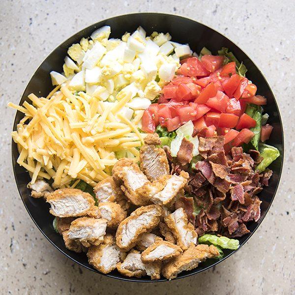 crispy chicken cobb salad 9square