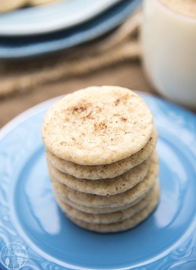 ... eggnog in a cookie! With 1/2 cup of eggnog, cinnamon, and nutmeg