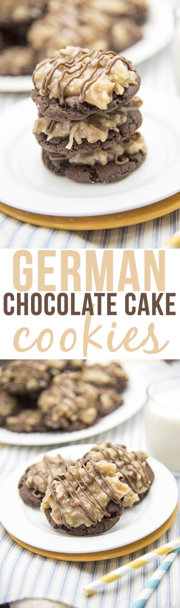 German Chocolate Cake Cookies - Like Mother Like Daughter