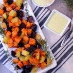 Roasted Sweet Potatoes with Rosemary Garlic Aioli