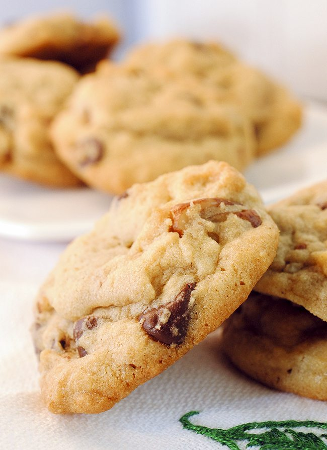 Butter Pecan Chocolate Chip Cookies - Like Mother, Like Daughter