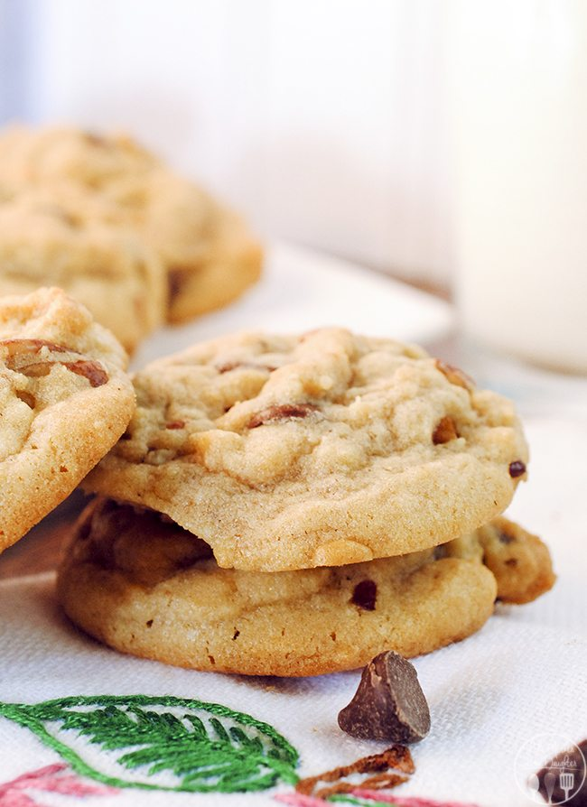 Butter Pecan Chocolate Chip Cookies - These butter pecan chocolate chip cookies have a fun twist with a delicious orange zest flavor. They are tasty homemade,  made from scratch cookies perfect for those you love.