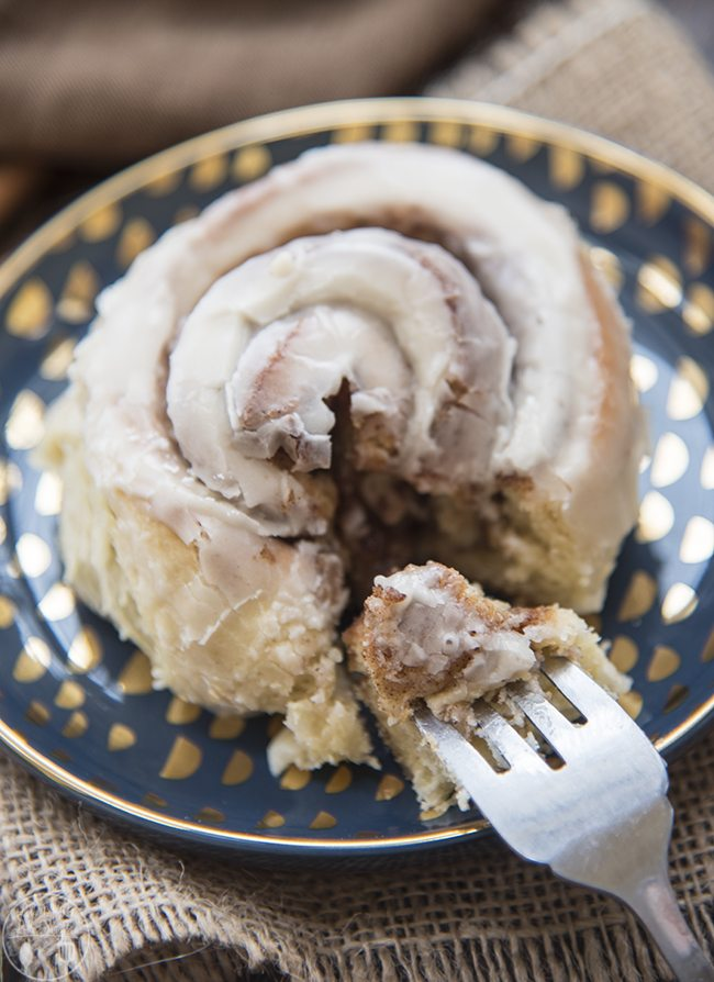Eggnog sweet rolls are perfectly delicious! A soft gooey roll topped with an amazing eggnog glaze. Perfect for a holiday breakfast or dessert!