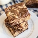 Peanut Butter Cheesecake Swirled Brownies