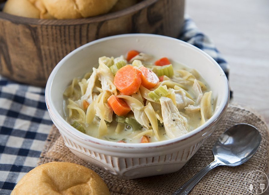 how to make chicken noodle soup creamy