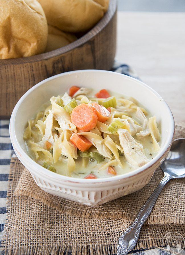 creamy chicken noodle soup 4