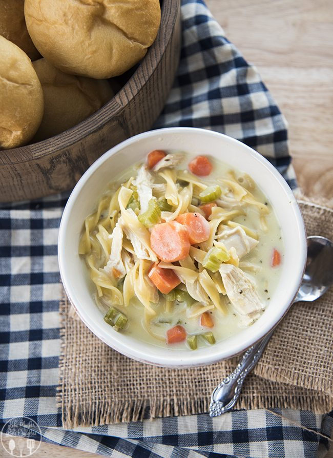 Creamy chicken noodle soup recipe