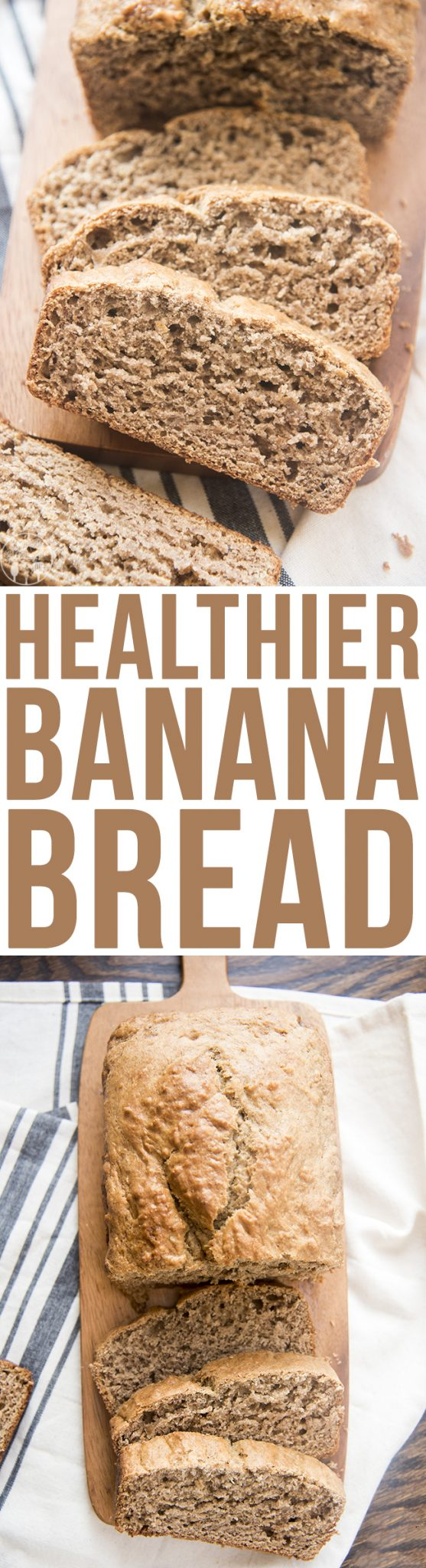 Healthier Banana Bread - This delicious banana bread is perfectly moist, packed full of flavor and made healthier with coconut oil, greek yogurt, and SPLENDA® Brown Sugar Blend.