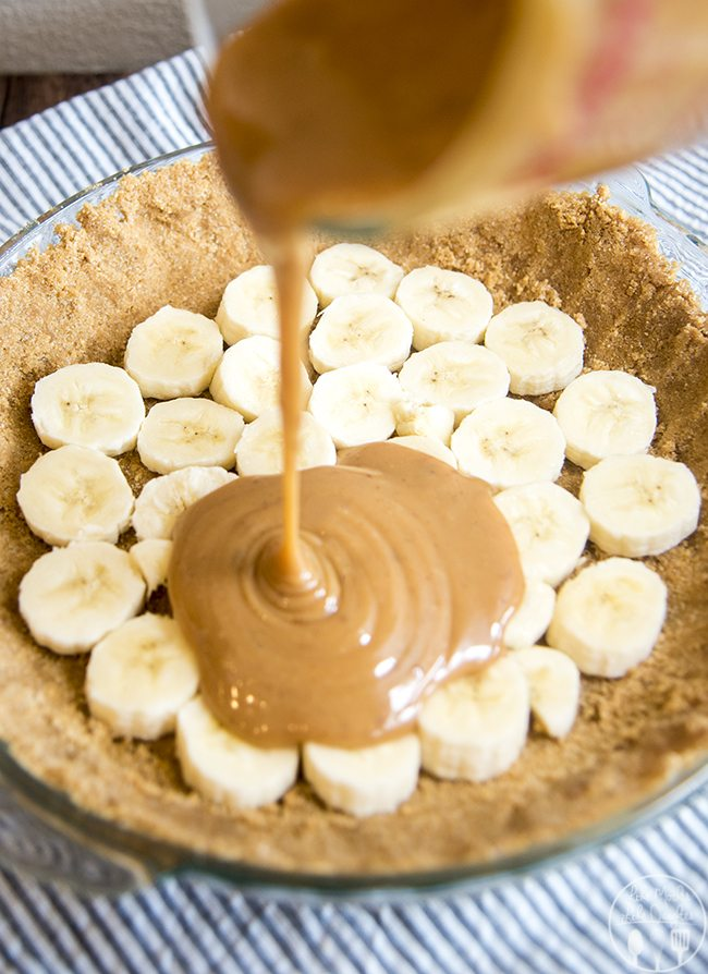 Banana cream pie is made even better with a caramel layer!