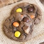 chocolate peanut butter cup cookies 6square