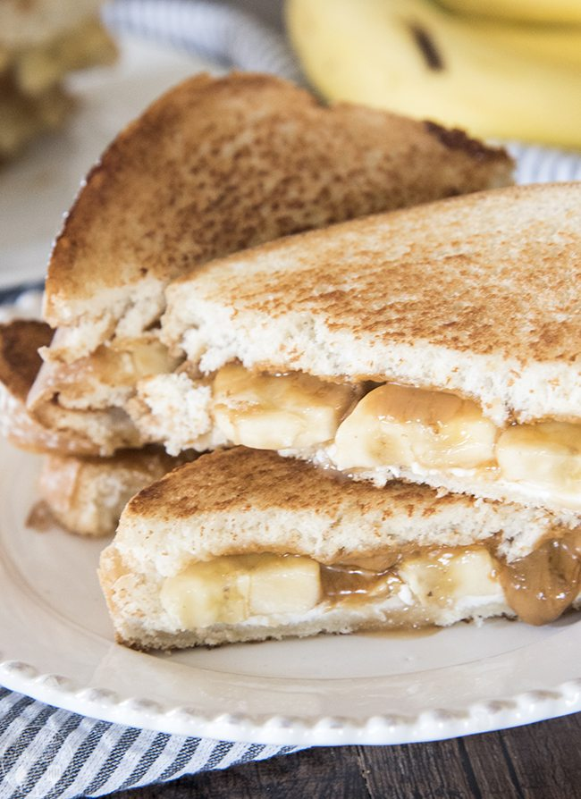 Bananas Foster Melt - This is a delicious dessert grilled cheese ...