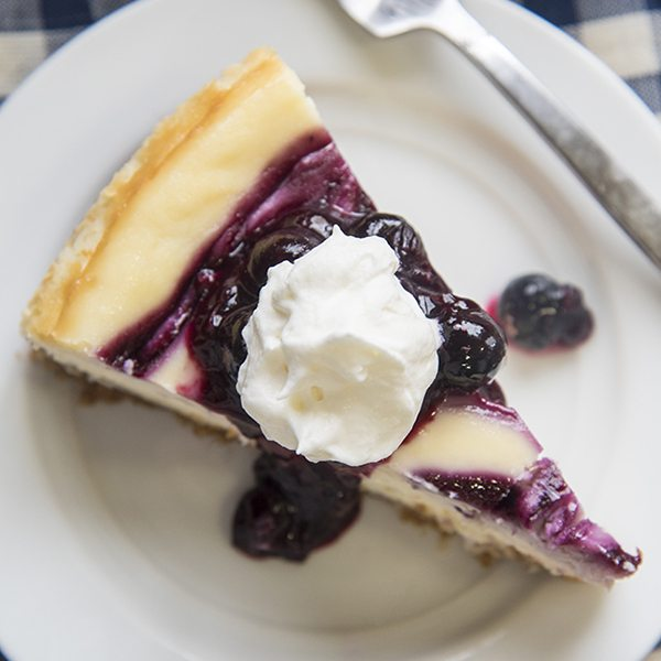 blueberry cheesecake 9square
