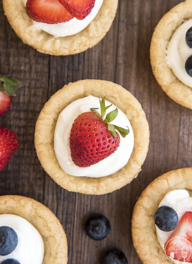 Cheesecake Sugar Cookie Cups These Amazing Cookie Cups Have A Sugar Cookie For A Crust
