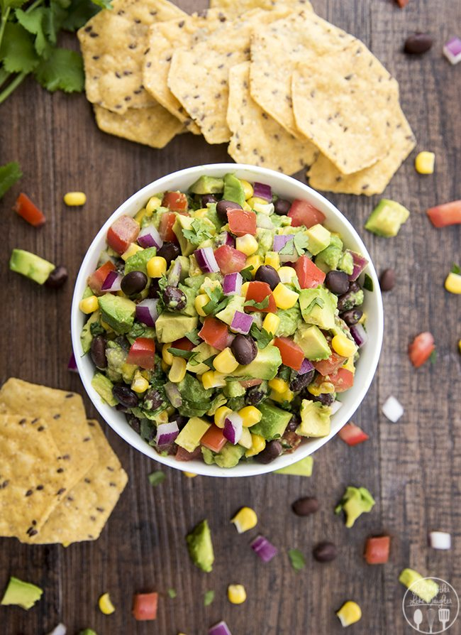 Corn and Black Bean Guacamole - LMLDFood
