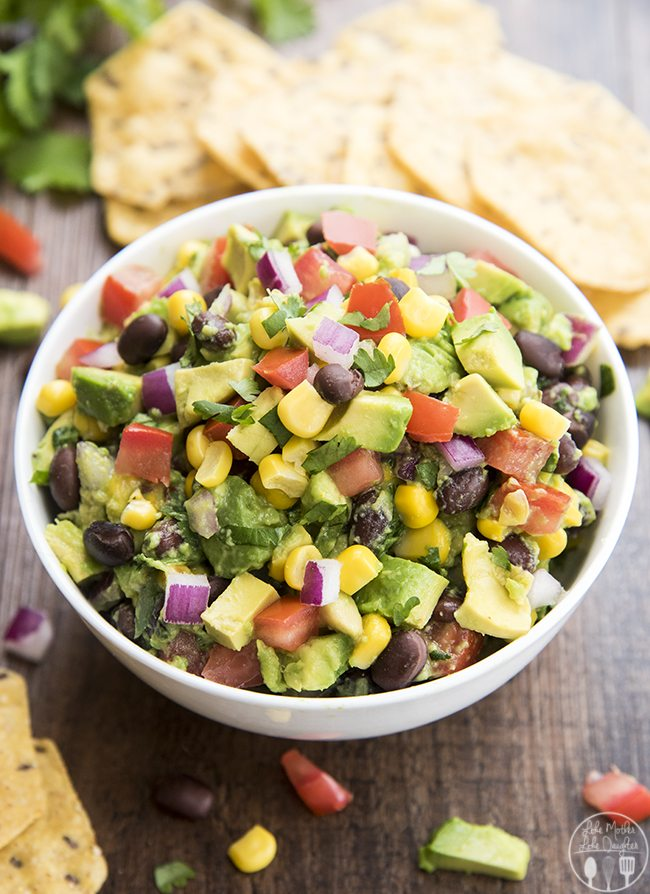 Black Bean Guacamole - This guacamole is stuffed full of corn, black ...
