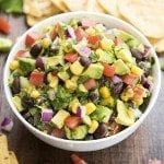 Corn and Black Bean Guacamole
