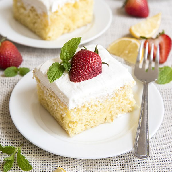 lemon poke cake 9square