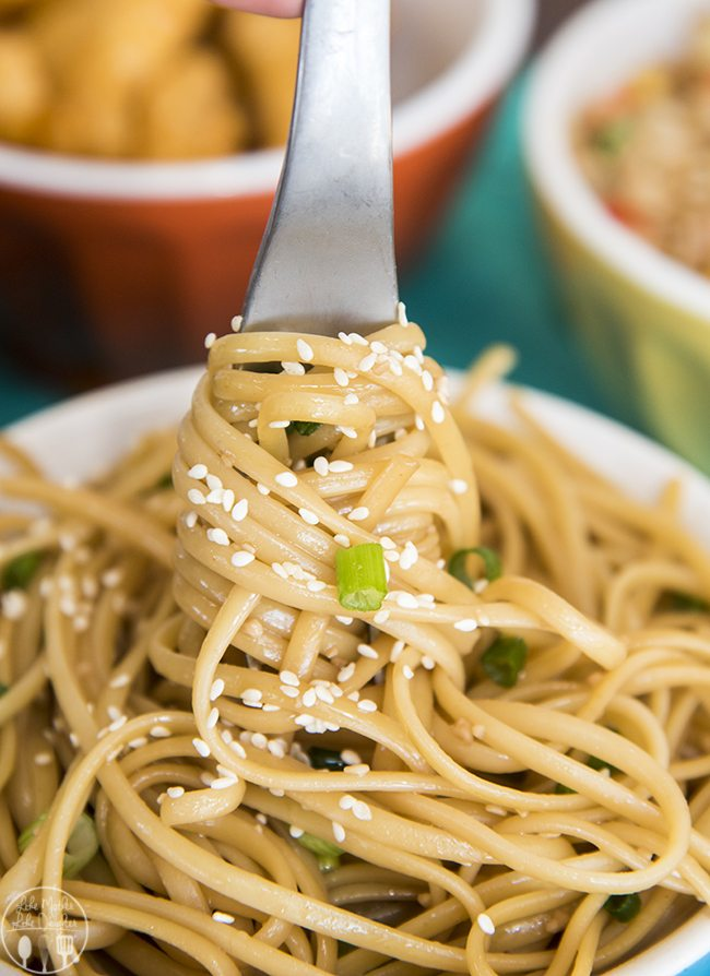 Sesame Noodles - These easy noodles are ready in just 15 minutes, for a delicious Asian inspired dish. Great as a side dish, served with your favorite veggies or meat!