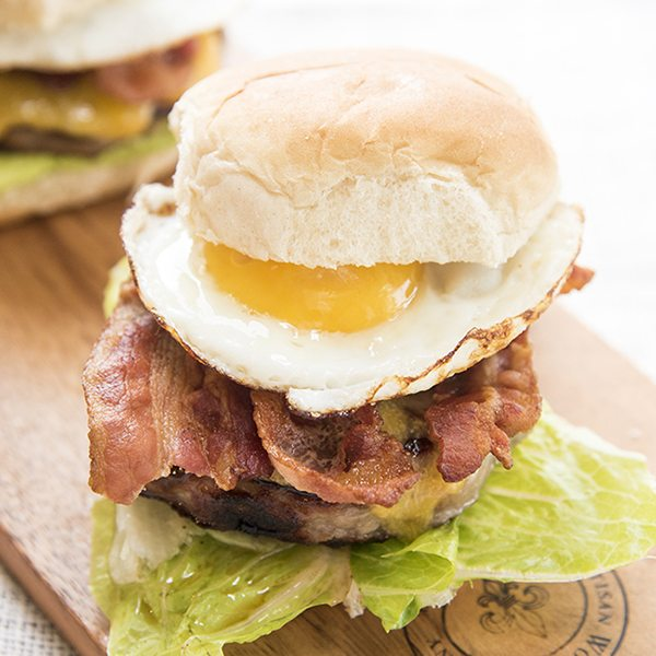 Bacon and Egg Cheeseburger