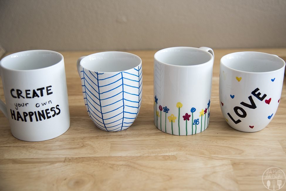 diy personalized mugs like mother like daughter