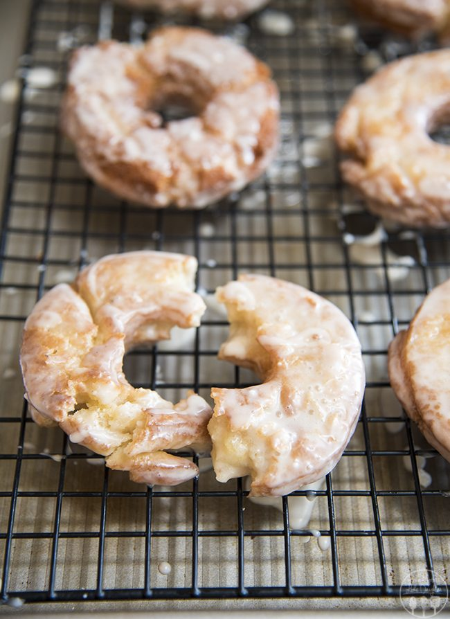 These delicious old-fashioned donuts have a soft and cake like center, crunchy exterior and taste just like your favorite old fashioned donuts from a bakery!