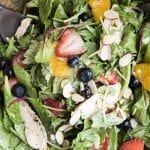 Chicken, Berry, and Almond Salad