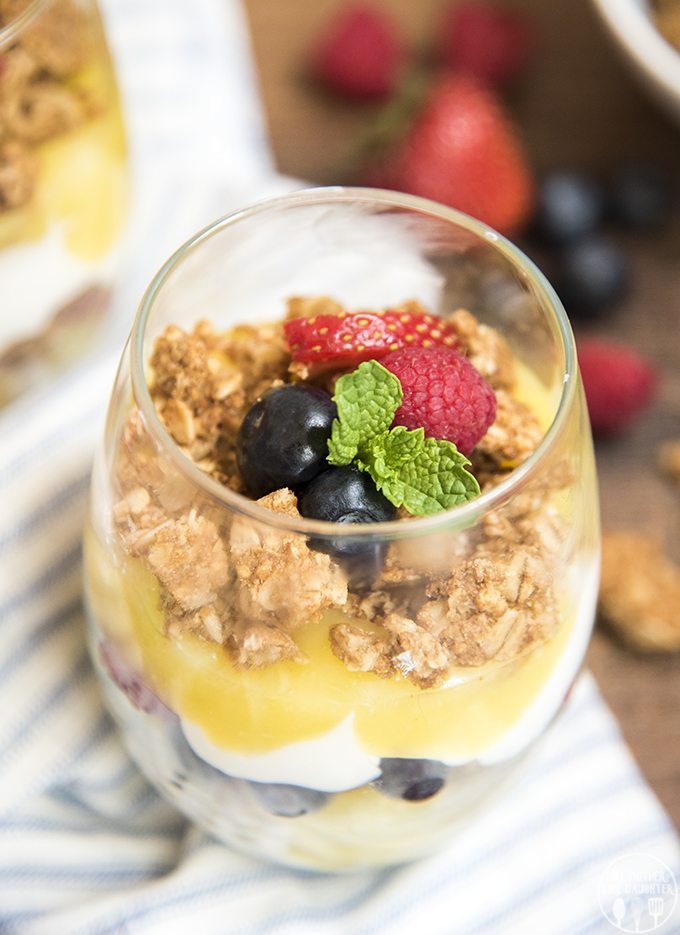 lemon curd and berry parfaits 1