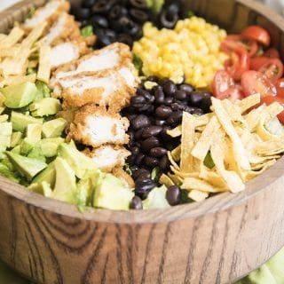 #Ad BBQ Ranch Chicken Salad