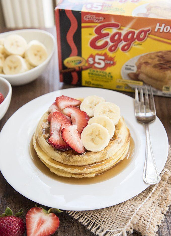 strawberry banana waffles 2