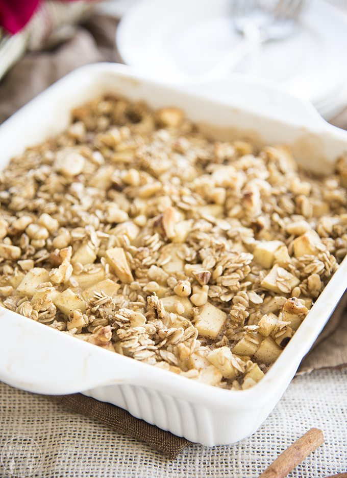 Baked Apple Cinnamon Oatmeal - Like Mother, Like Daughter