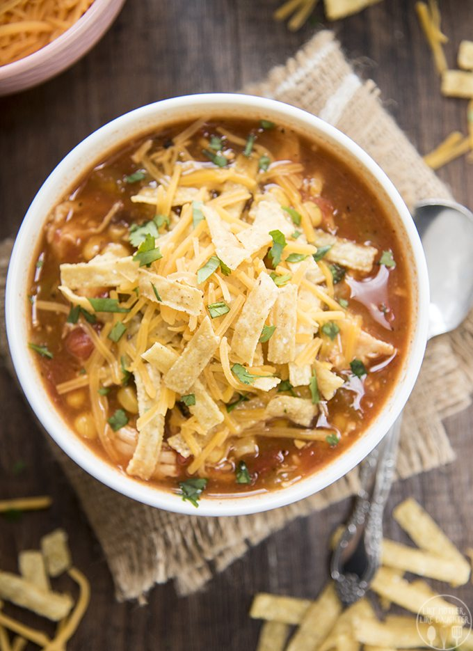 Slow Cooker Chicken Enchilada Soup - This soup is packed full of flavor, with hardly any work, for a meal that the whole family will love
