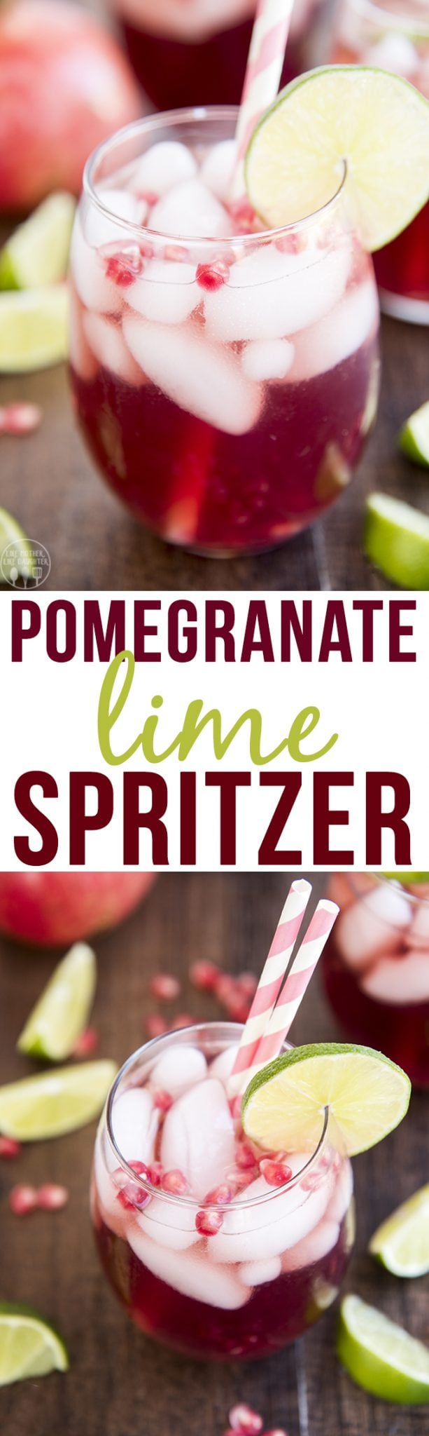 Pomegranate Lime Spritzer - This Spritzer is the perfect fall drinkwith minimal ingredients! Perfect for an easy and festive drink for the holidays!